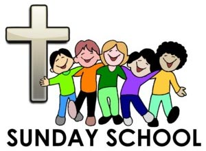 Children At Church School Clipart.