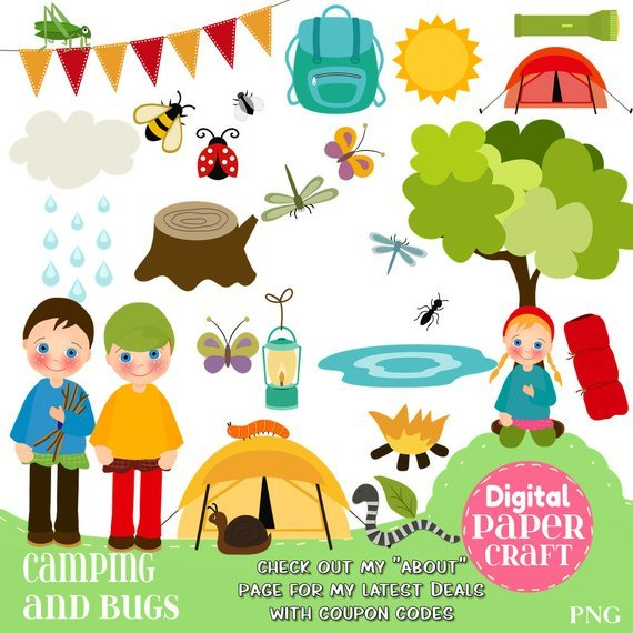 Children camping clipart 4 » Clipart Portal.