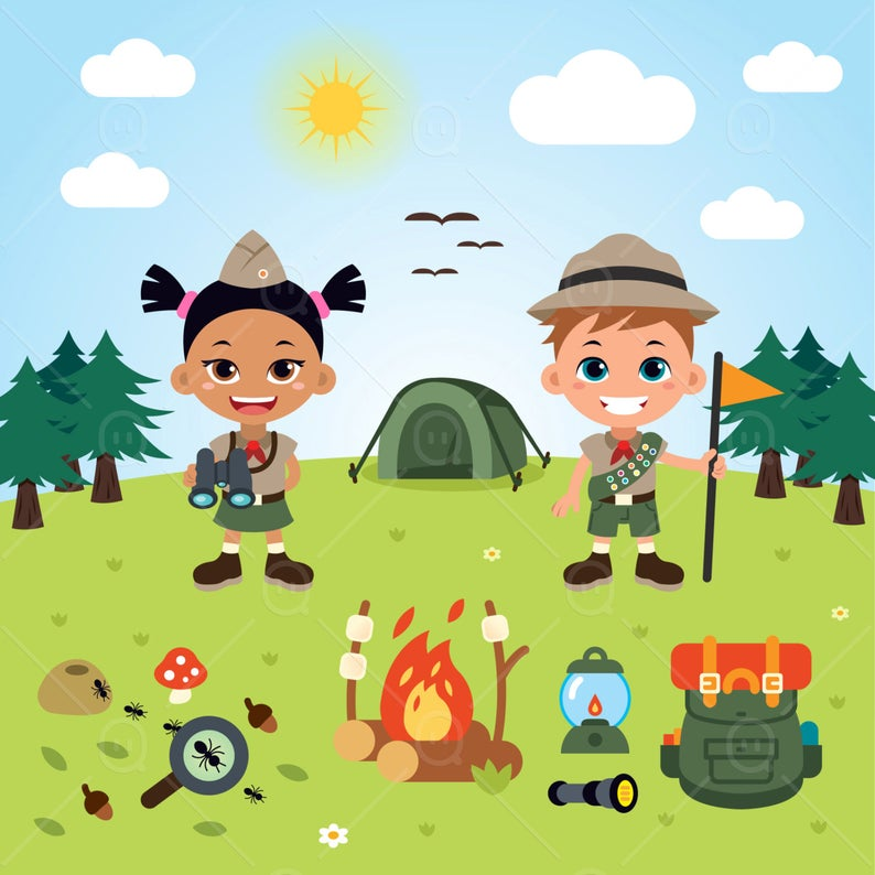 Boy Scout Children Clipart, Vector Children Boy Scout, children clip art,  children clipart.