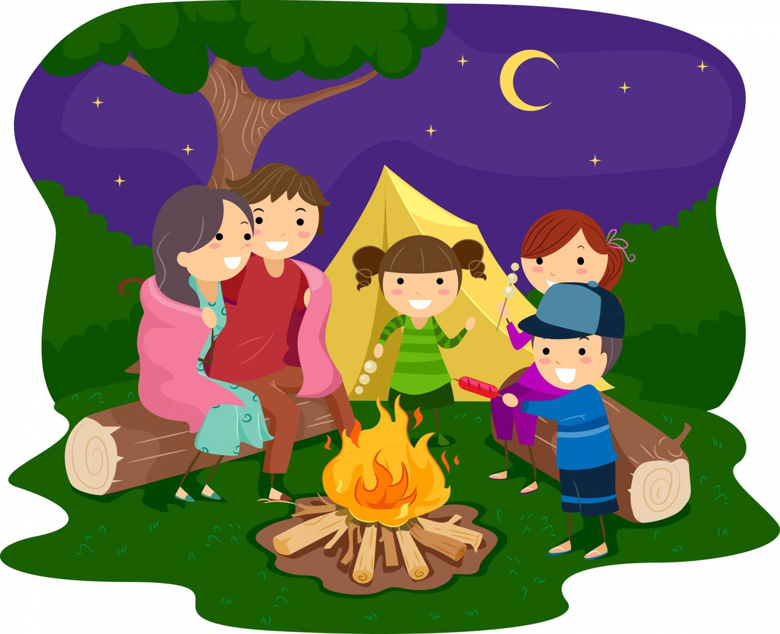 Camping Cartoon Pictures Group with 81+ items.