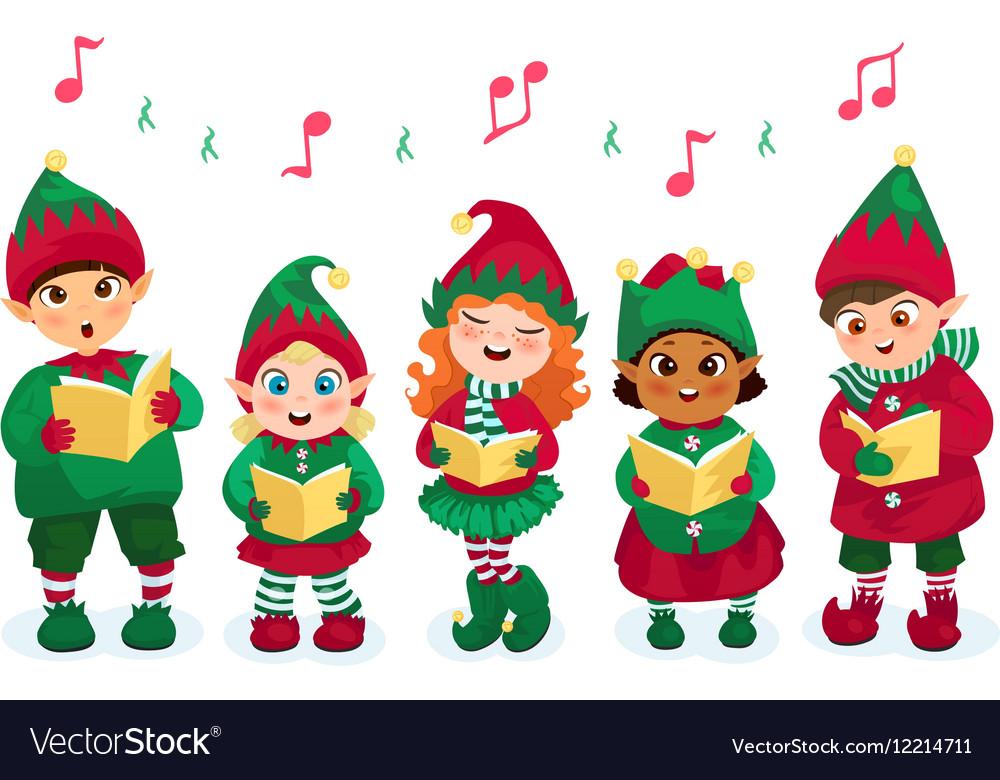 Caroling kids set.