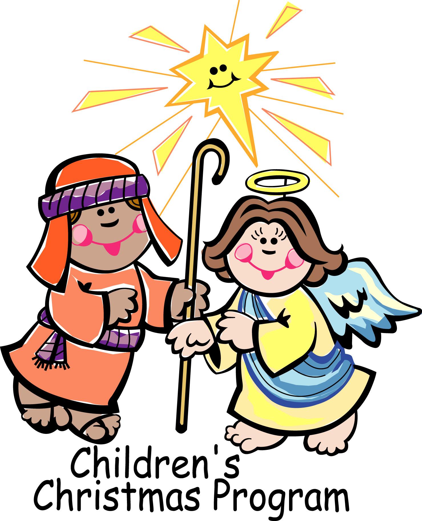 Children christmas program clipart.
