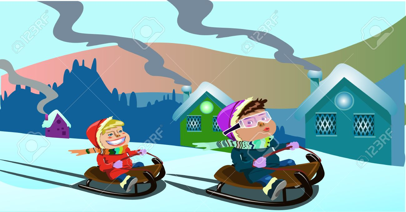 Childrens Christmas Play Clipart.