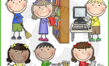 children cleaning classroom clipart #15