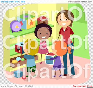 Clipart Children Cleaning Up Toys.