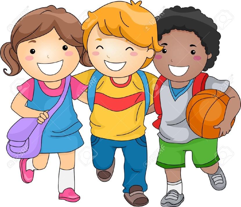School Children Clipart.