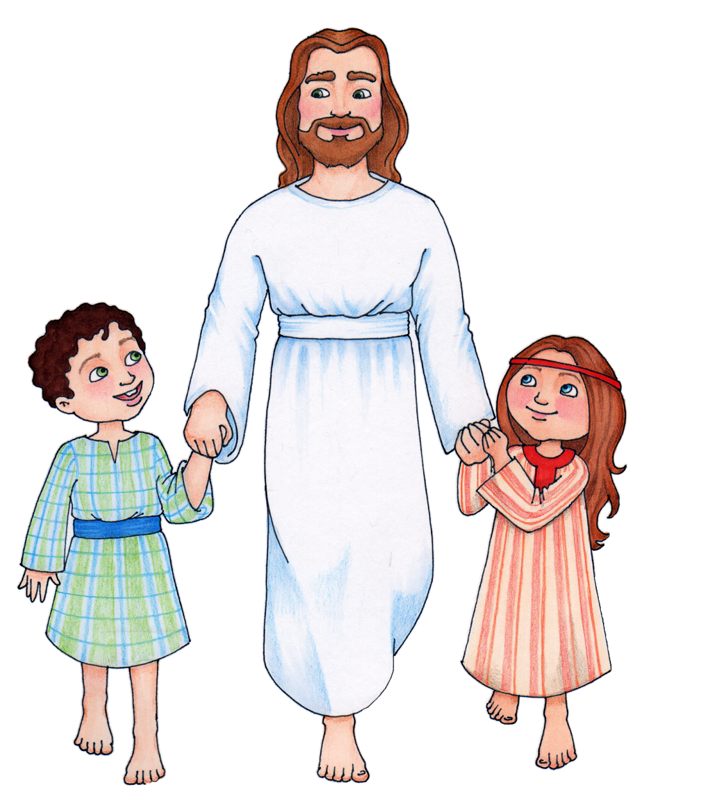 Children sharing jesus clipart.