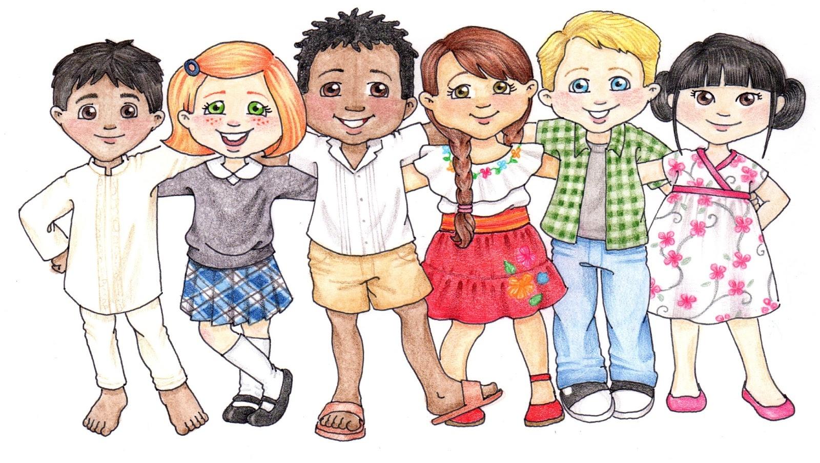 Love children clipart.