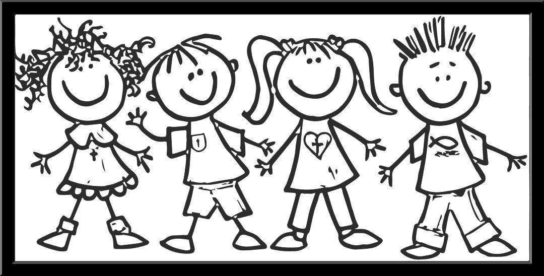 Preschool children clipart black and white 4 » Clipart Portal.