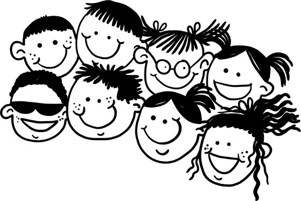 Children clipart black and white 2 » Clipart Station.