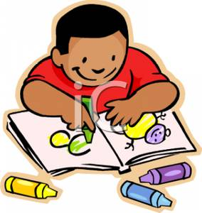 Child Coloring Clipart.