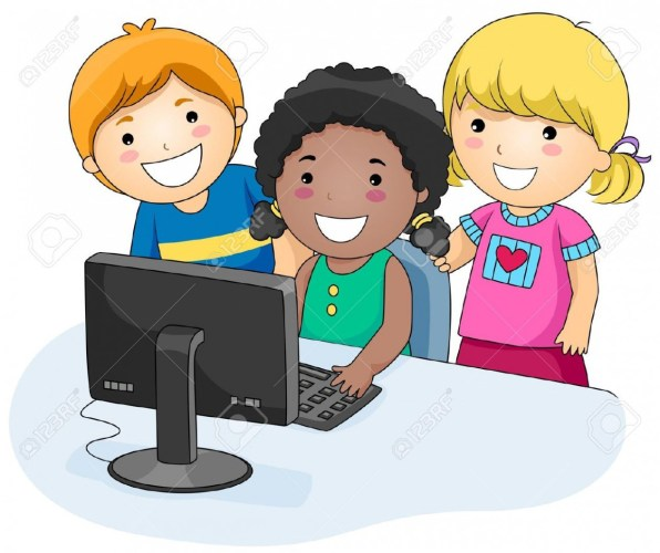 Computer clipart child computer.