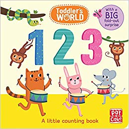 123: A little counting board book with a fold.