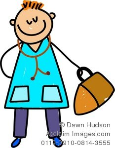 Clipart Illustration of a Doctor Kid.