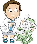 Stock Illustration of Doctor Treating Sick Child u10836657.