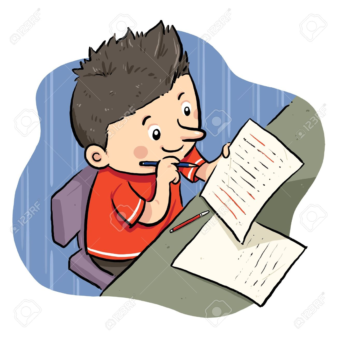 children doing homework clipart - clipground