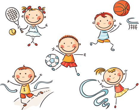 Children Doing Pe Clipart.