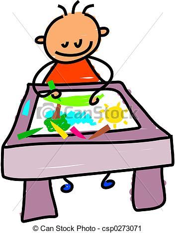 Kids drawing clip art.