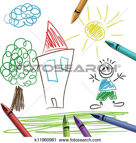 Clipart of Kid Boy Swinging in Vine k15372245.