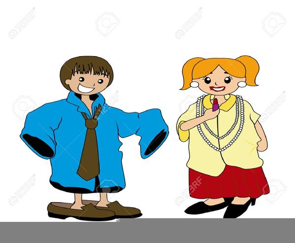 Children Dress Up Clipart.