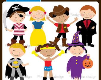 Kids Fancy Dress Clipart.