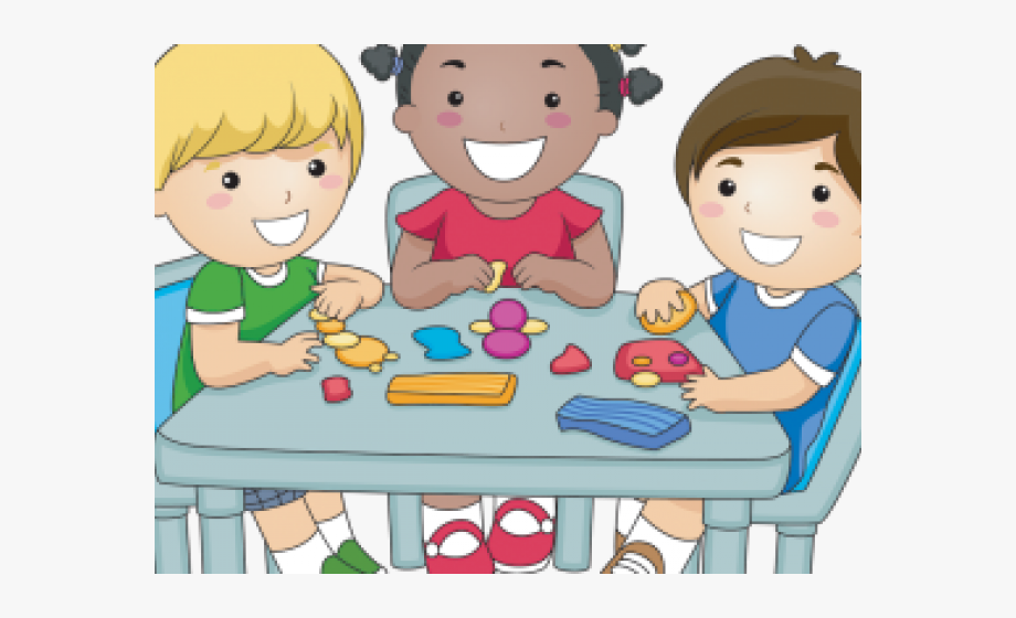 Snack Clipart Kids Sharing.