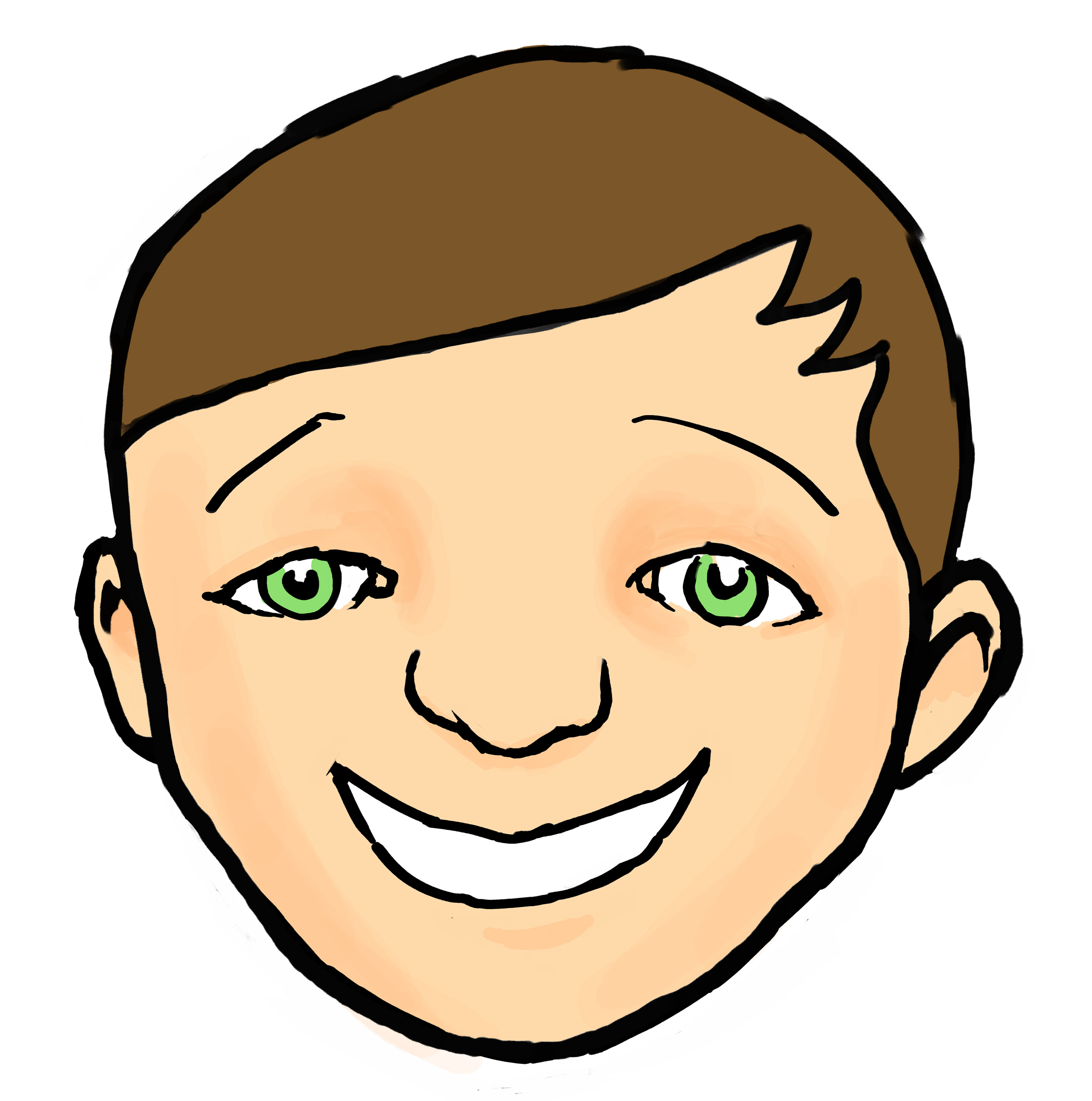Face Clip Art For Children Free.