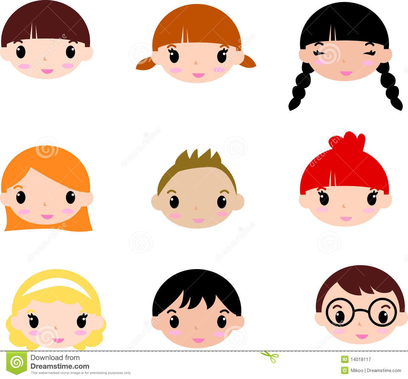 Clipart children faces.