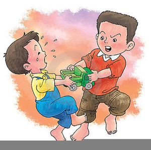 Clipart Children Fighting Over Toy.