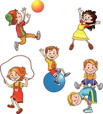 Kids Health And Fitness Clipart.