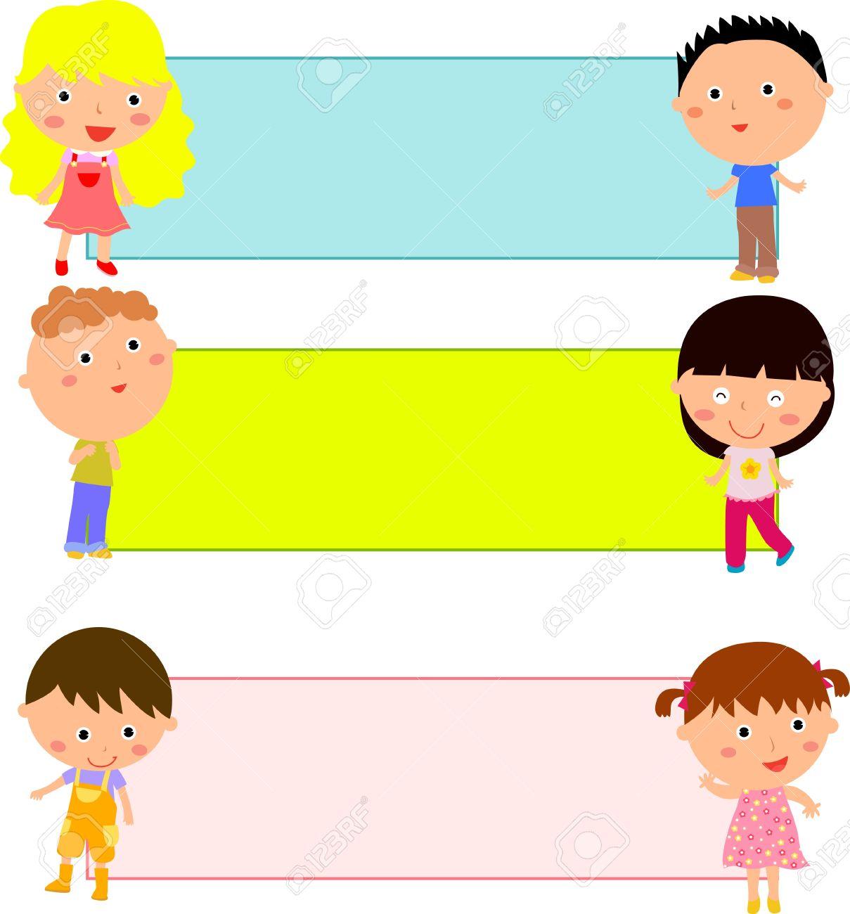 Children Frame Clipart.