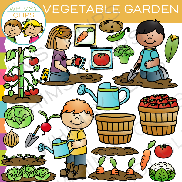 Kids Vegetable Garden Clipart & Free Clip Art Images #1745.