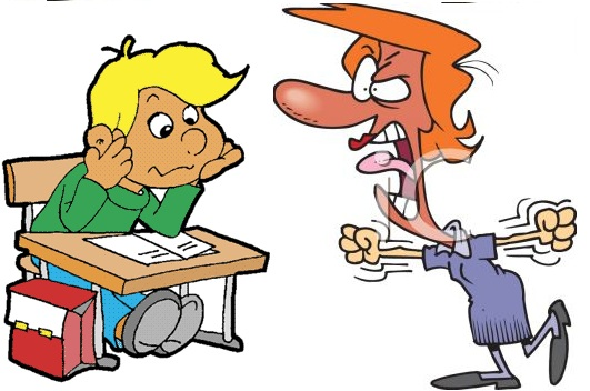 Children Getting Yelled At By Teacher Clipart.