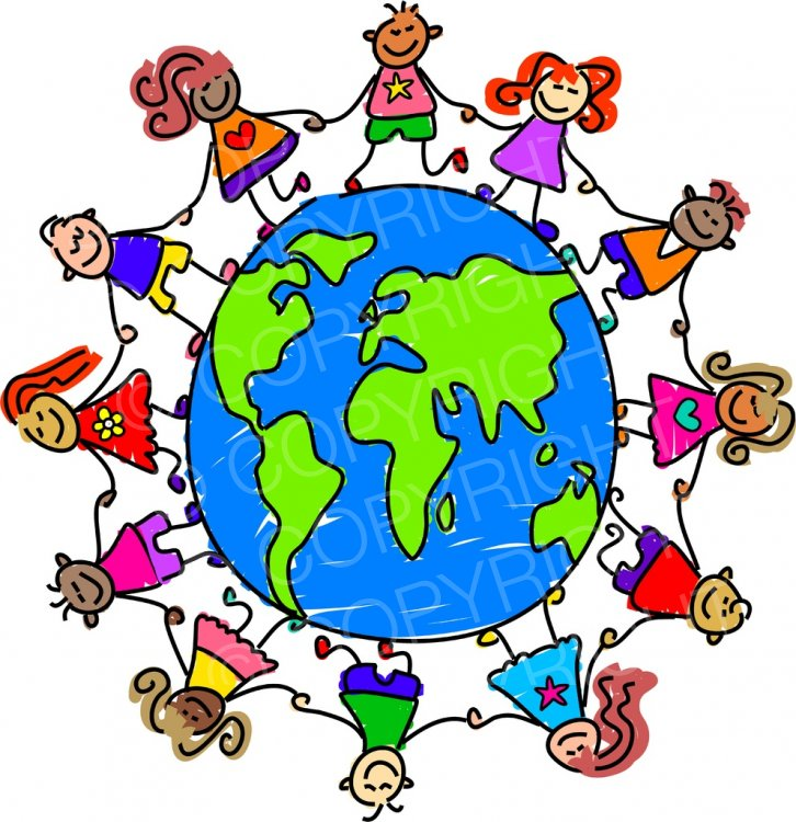 Toddler Art World Globe Clipart Children.
