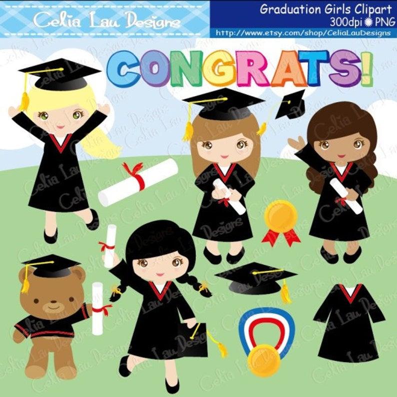 Graduation Clipart ,Preschool, Kindergarten graduation Clip art , Graduate,  Grad clip art/ INSTANT DOWNLOAD (CG031).
