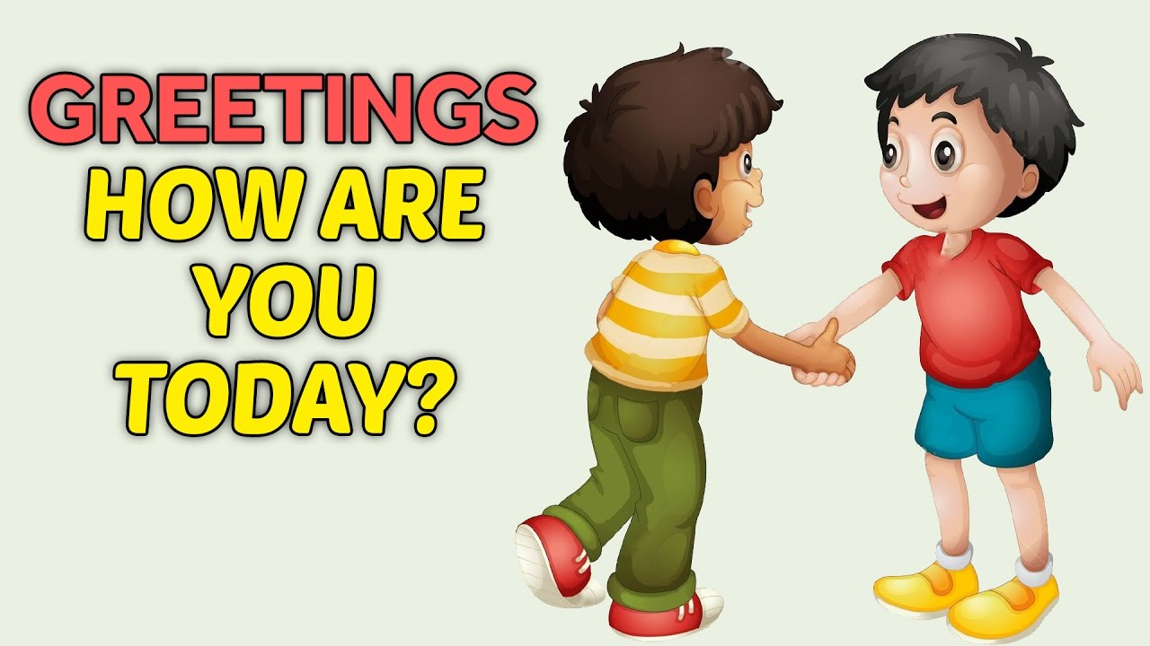 Greeting People Clipart.