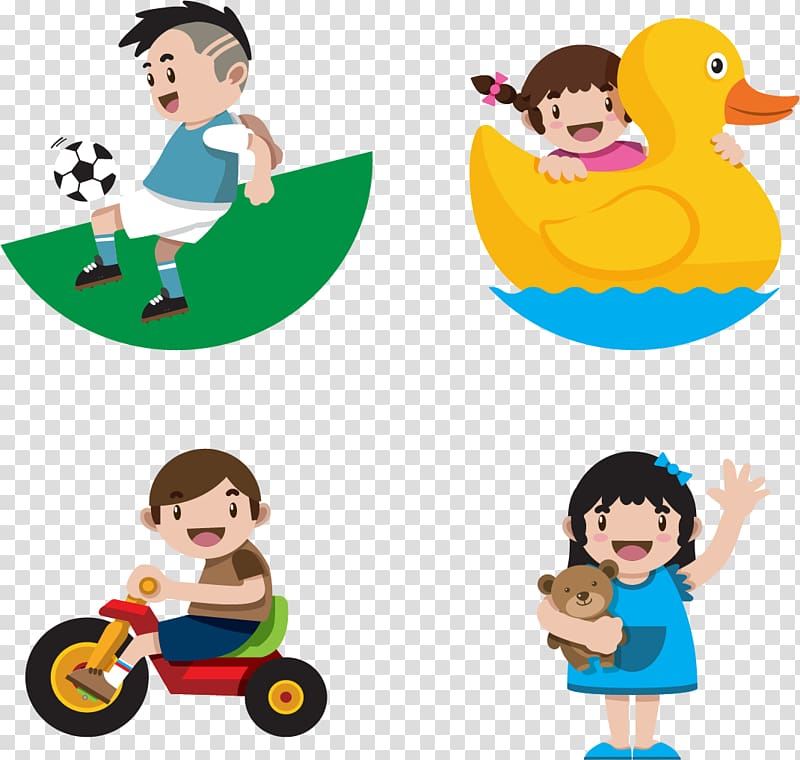 Children grow up happy transparent background PNG clipart.