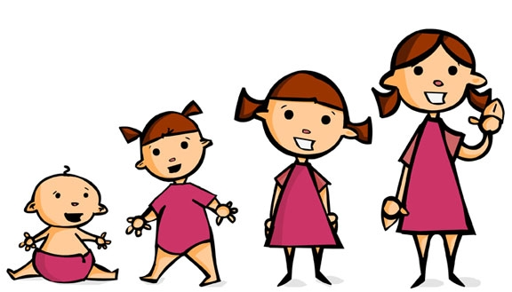 Baby Growing Up Clipart.