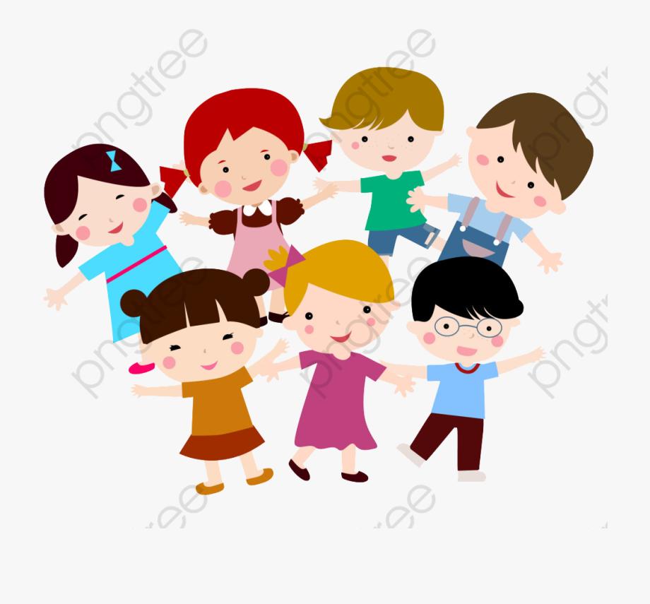 Children Hand In Hand Clipart.