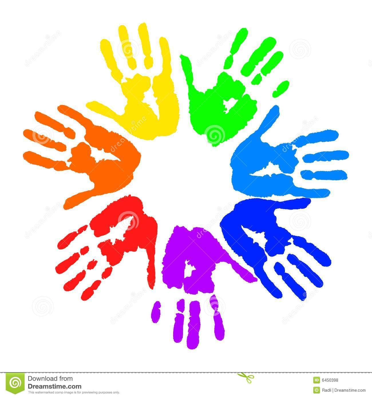 Pics For > Kids Handprint Clipart.