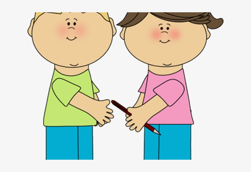 Playing Clipart Kids Sharing.