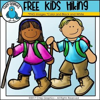 FREE Kids Hiking Clip Art.