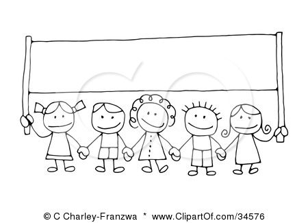 Children Holding Hands Clipart Black And White 20px Image 18