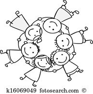 children holding hands clipart black and white 20 free ...