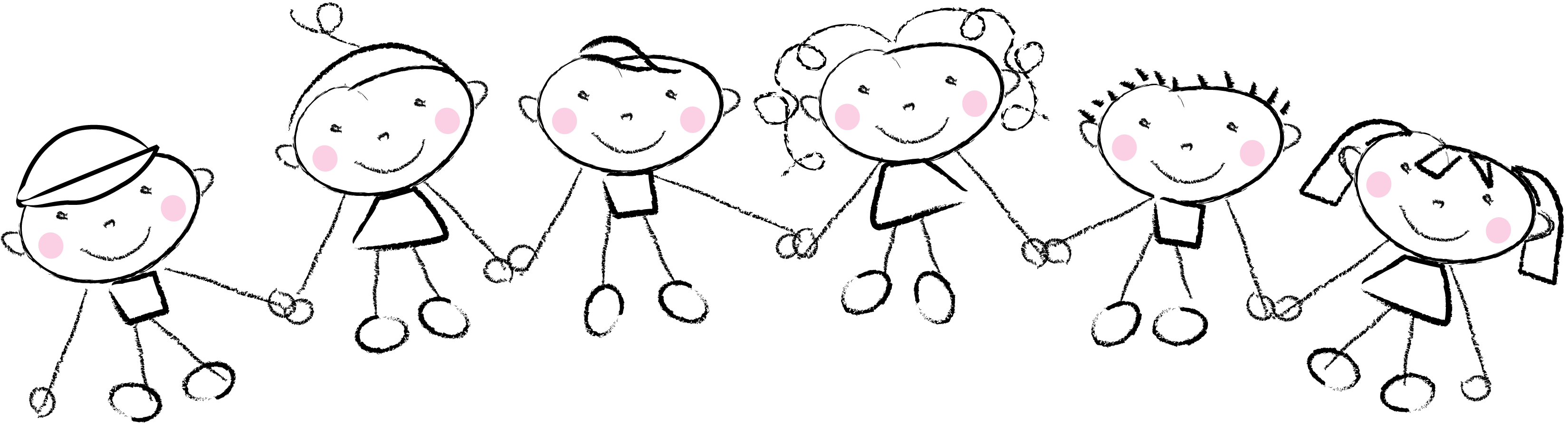 children holding hands color clipart - Clipground