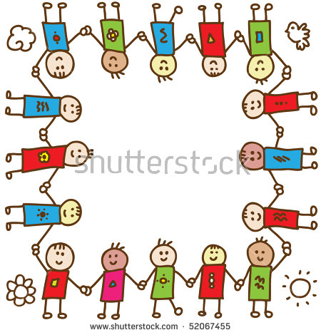 Diverse Children Holding Hands Stock Images, Royalty.