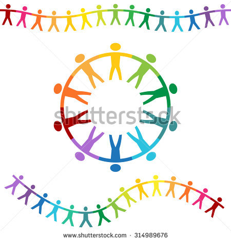 Holding Hands Circle Stock Images, Royalty.