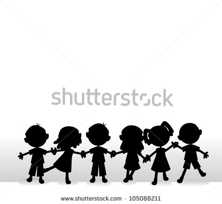 Children Holding Hands Stock Images, Royalty.