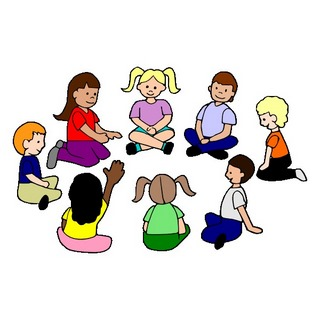 Children Circle Time Clipart.