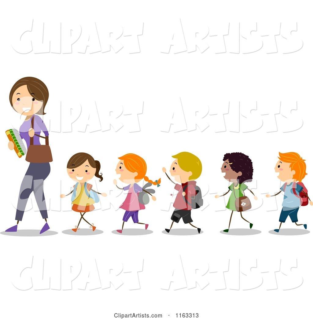 Line of children clipart 3 » Clipart Station.